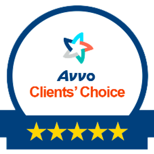 Avvo Clients Choice 5 Star rating